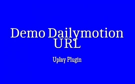 Demo Dailymotion URL